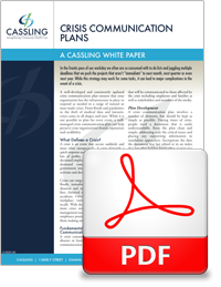 Cassling Crisis Communication Plan - White Paper