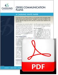 Cassling Crisis Communication Plan - White Paper