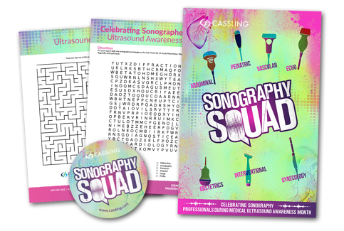 Sonography Squad ultrasound resources collage