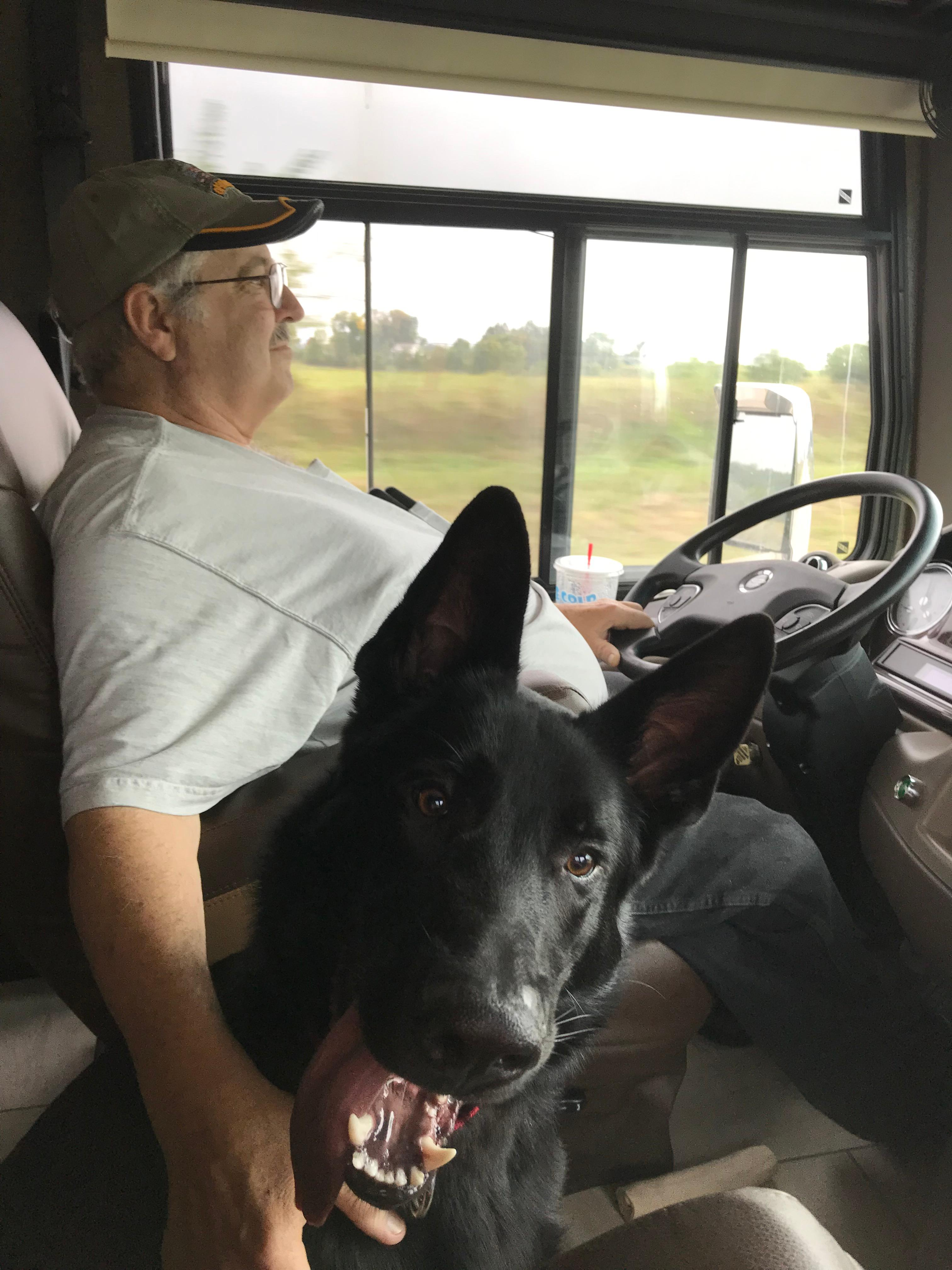 Brian Bailey with His Dog