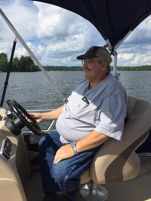 Brian on a Boat