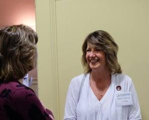 Kathy with IIU Attendee