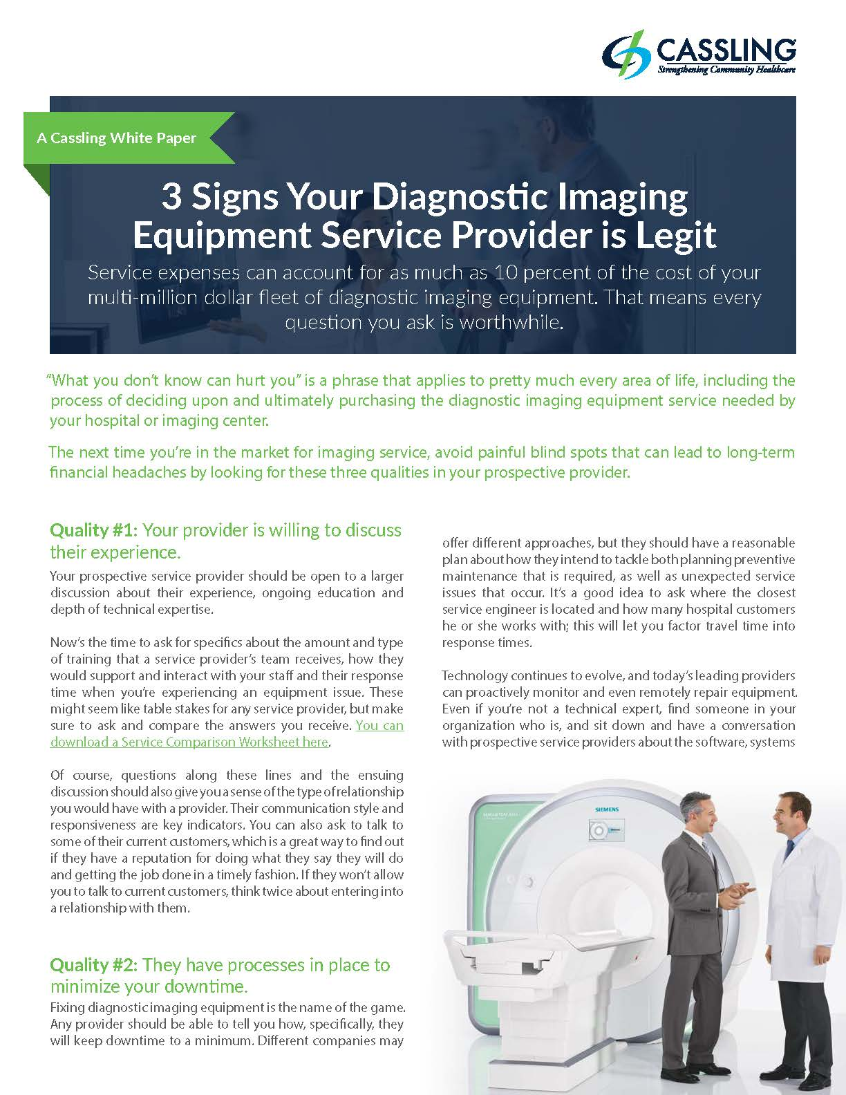 Diagnostic Imaging Equipment-Service-3Signs-White-Paper-Cover