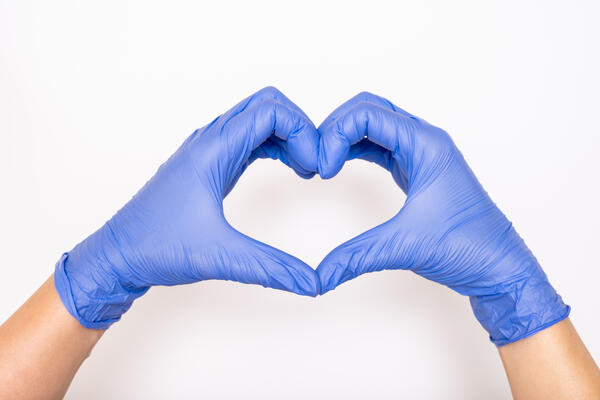 Gloves in Heart Shape