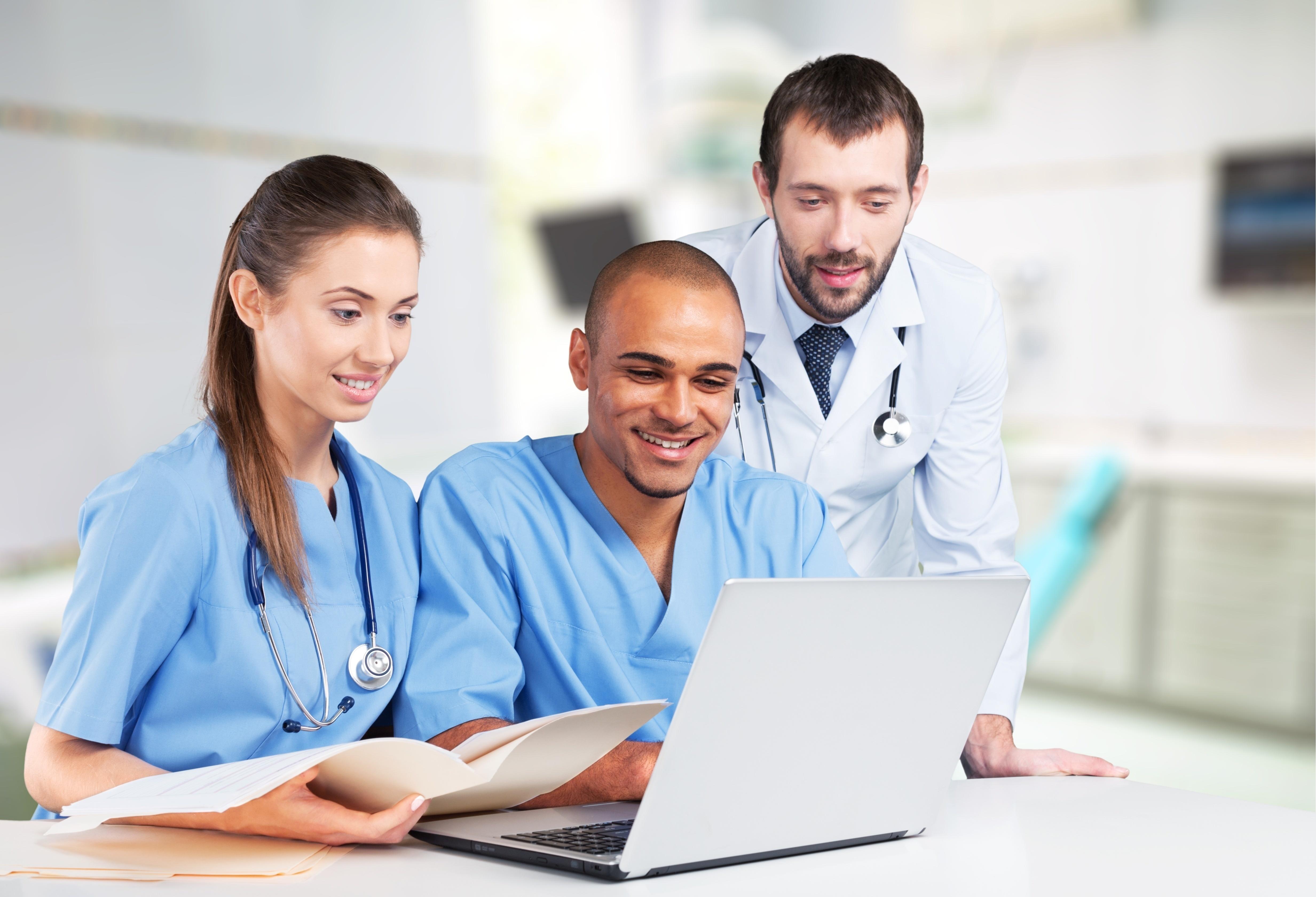Medical Team at Computer