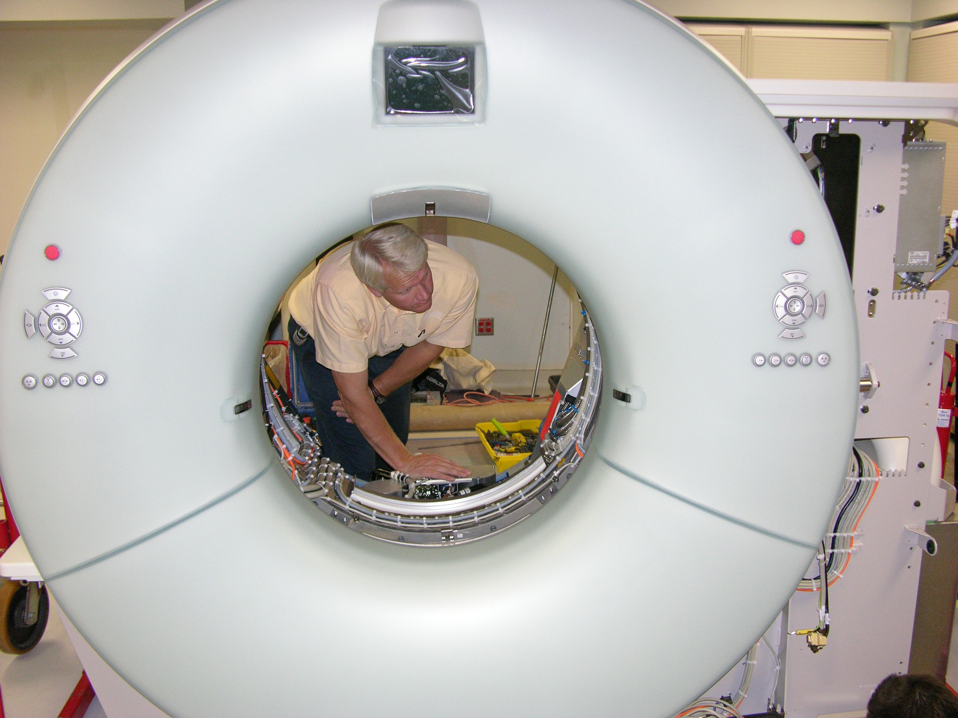 Reed Poulsen during a CT installation