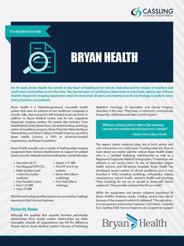 Bryan Health Factors Service Into Diagnostic Imaging Equation