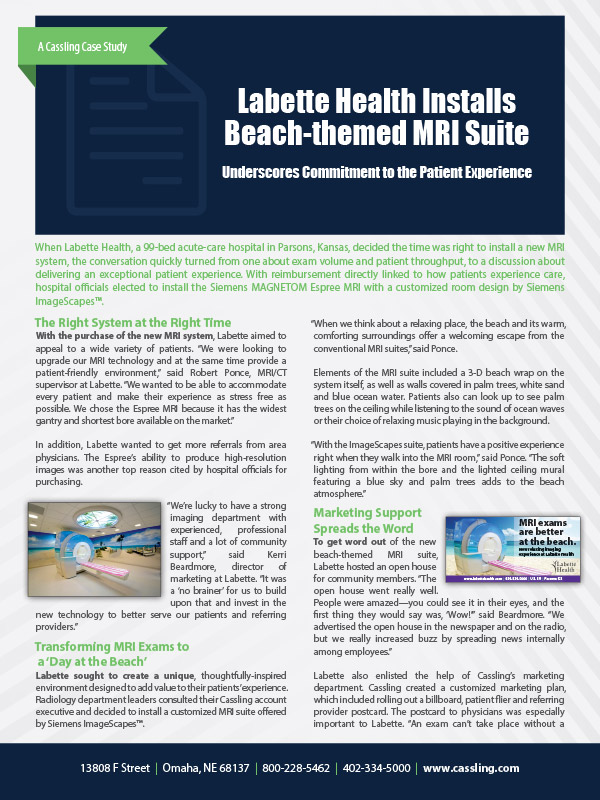 Labette Health Installs Beach-themed MRI, Improves Patient Experience