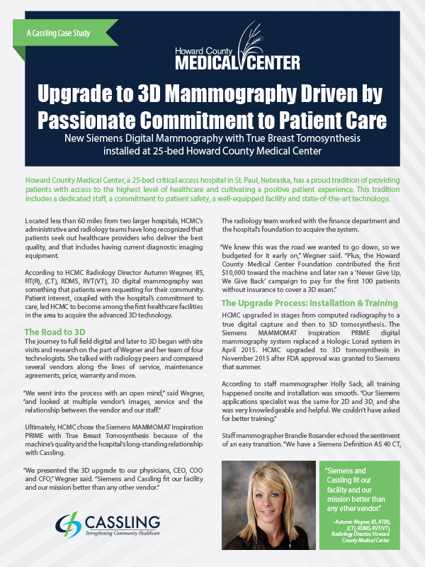 Upgrade to 3D Mammography Driven by Passionate Commitment to Patient Care