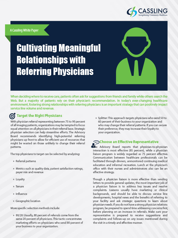 Cultivating Meaningful Relationships with Referring Physicians