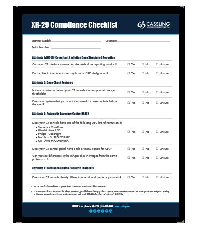 DIY: XR-29 Compliance Checklist
