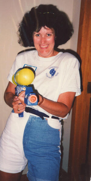 Deb with Squirt Gun