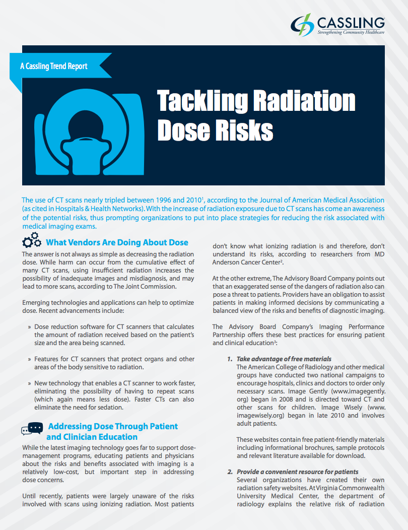 5 Best Practices to Manage Radiation Dose Concerns
