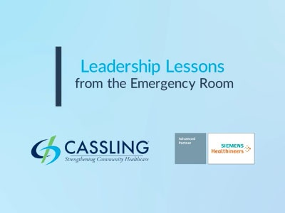 Leadership Lessons from the Emergency Room