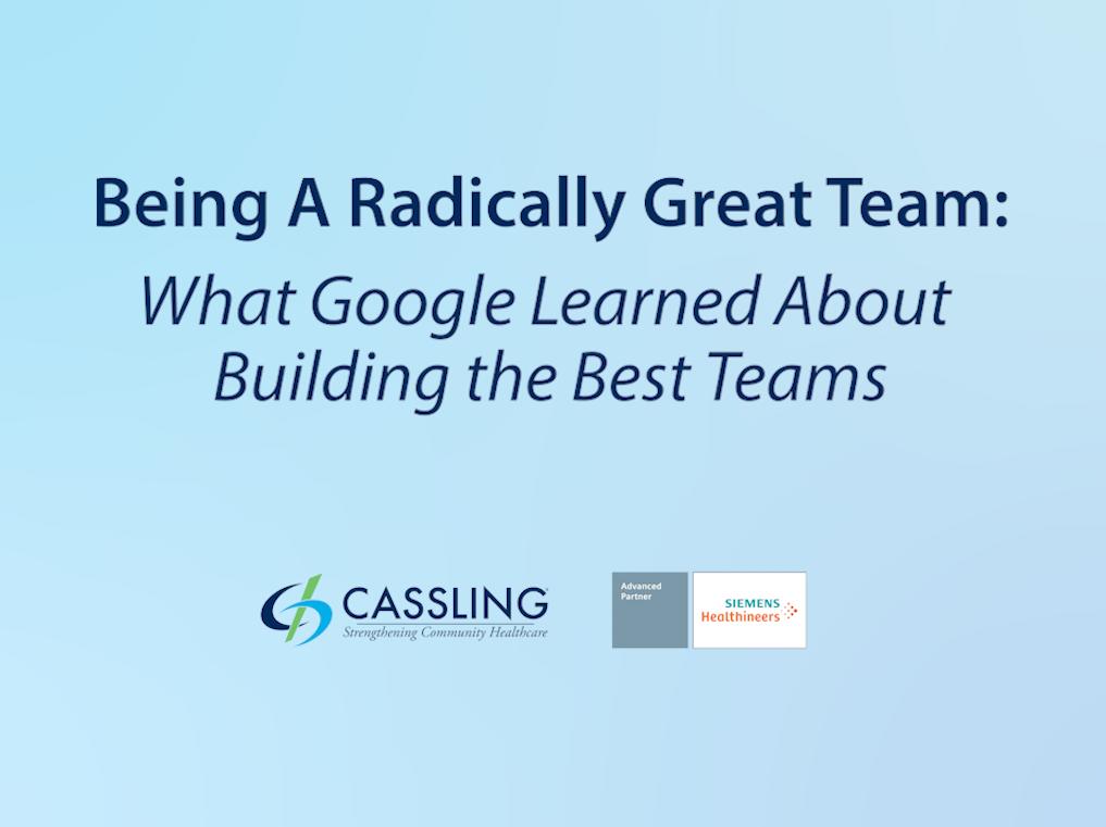 Being A Radically Great Team Webinar Icon