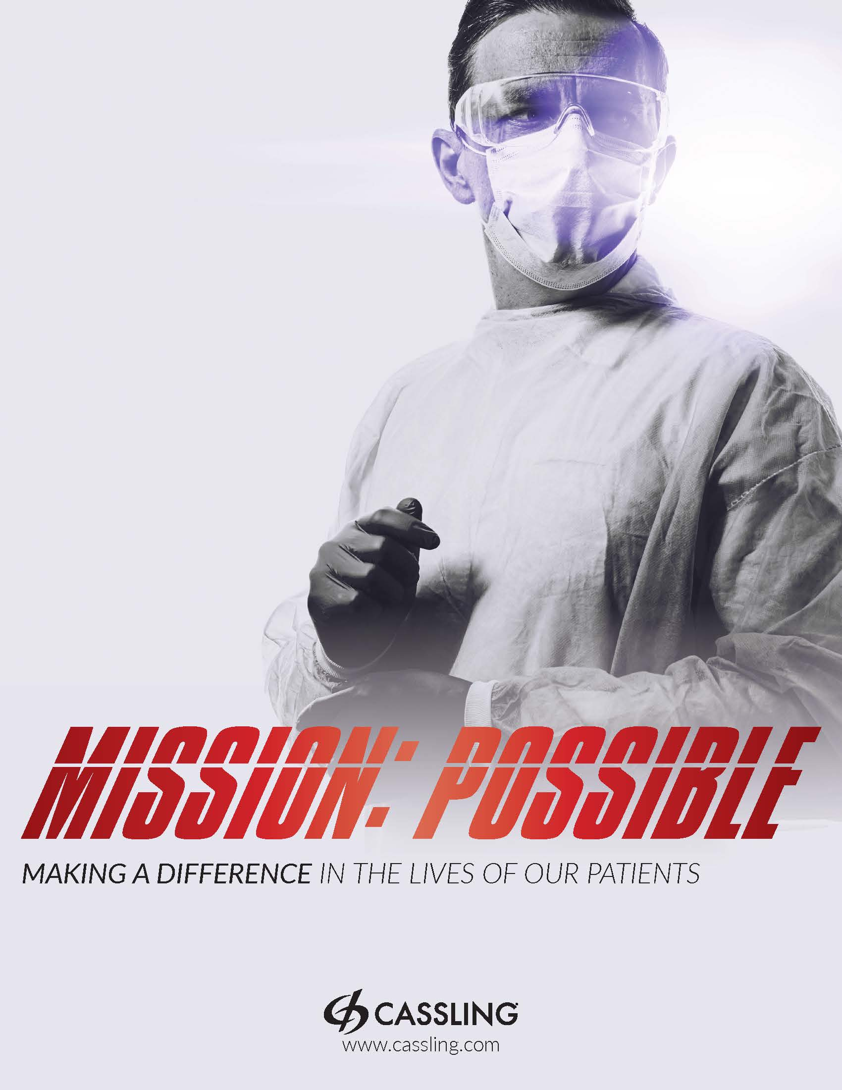 Healthcare Heroes Mission: Possible White Poster