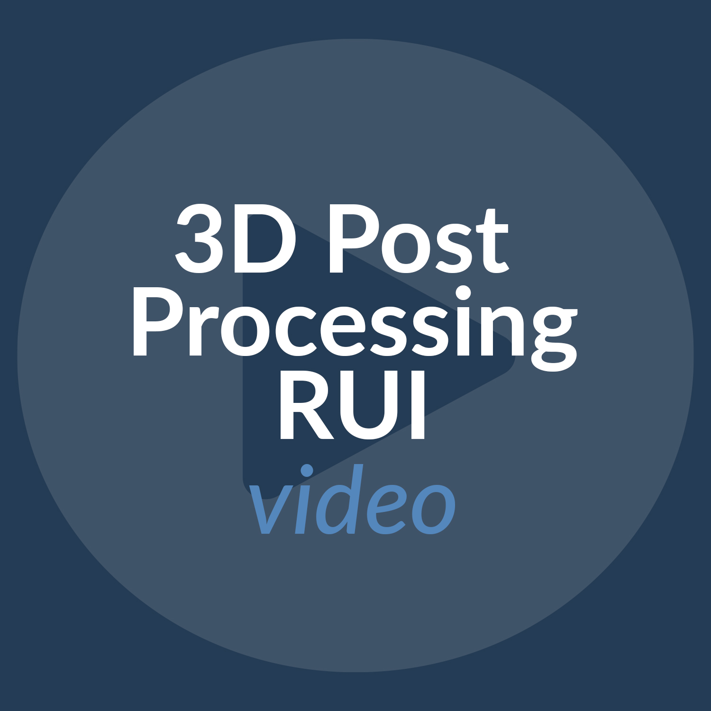 Cios Spin 3D Post Processing RUI