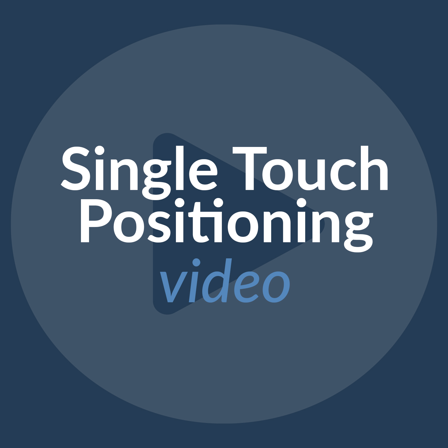 Cios Spin Single Touch Positioning